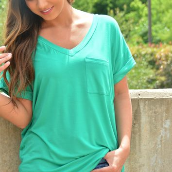Not Your Boyfriends Tee - Medium Sea Green