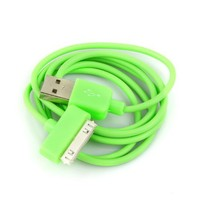 New Wayzon USB Data Charger Cable Cord for Apple Iphone Ipod Itouch Green