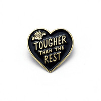 Tough Heart Enamel Pin