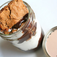 SMORE's Bar Cookie Jar with Chocolate Ganache & by tookies on Etsy