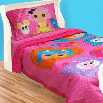 Lalaloopsy Twin Bedding Set Cute Buttons Comforter Sheets