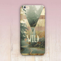 Wanderlust Wild Wood Print Phone Case- iPhone 6 Case - iPhone 5 Case - iPhone 4 Case - Samsung S4 Case - iPhone 5C - Tough Case - Matte Case