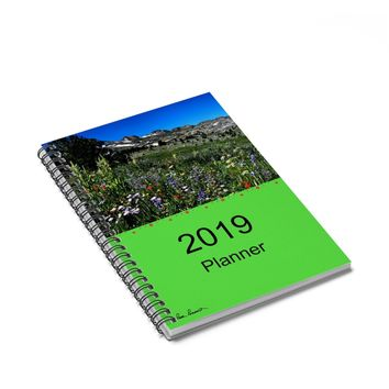 2019 PLANNER: Spiral Notebook - 120 pages ships free by PonsART $22.00