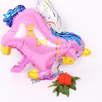 Mini Unicorn Foil Balloon baby shower supplier globos Pegasus Horse Balloon 20pcs Wedding Baby Birthday Party Decorations kids
