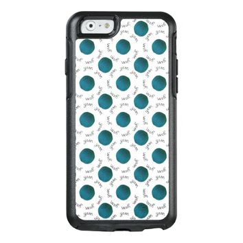 Balls of Yarn - Teal & Yarn script pattern Crafts OtterBox iPhone 6/6s Case