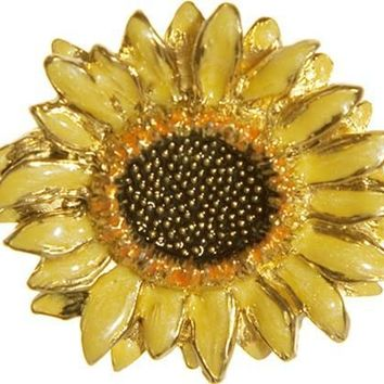 Sunflower Color Enamel Brooch Pin after Van Gogh - 5120Z