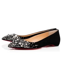 Keopump Flat Black/Mix Black Multi Strass - Women Shoes - Christian Louboutin
