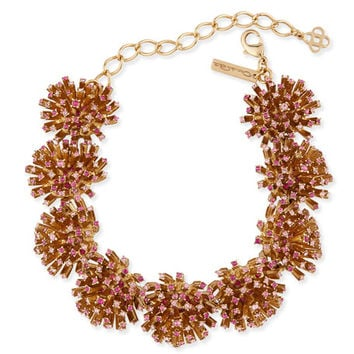 Oscar de la Renta Crystal Firework Station Necklace