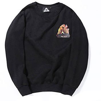 Palace Triangle Flames Crewneck