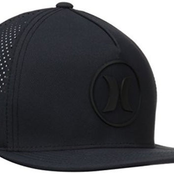Hurley Men's Dri Fit Icon Hats Flexfit, Black, One Size