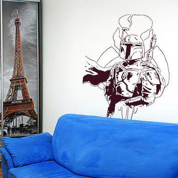 Boba Fett Star Wars Nursery Room wall sticker decal wall art decor 7220-2