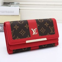 LV Louis Vuitton Classic Women's High Quality Wallet Red