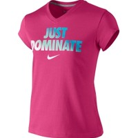 Nike Girls' Dominate V-Neck T-Shirt - Dick's Sporting Goods