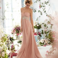 Custom long prom dress/beaded chiffon prom gown/celebrity dress/evening dress/home coming/cocktail/party/bal­l gown dress/bridesmaid dresses