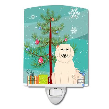 Merry Christmas Tree Great Pyrenese Ceramic Night Light BB4208CNL