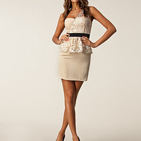 Lace Peplum Dress, Little Mistress