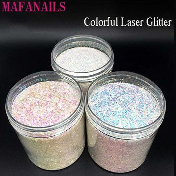 1pcs 0.2,0.4,1mm AB White Laser Nail Art Holographic Glitter Flakes Powder Dust For Gel Polish Shiny Fine Nails Decoration Tip