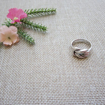 Sailor knot ring, .925 sterling silver, vintage ring, sterling silver ring, love ring, nautical ring, vintage silver ring