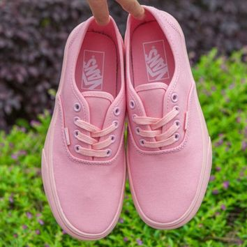 VANS Authentic Fashion Casual Canvas Old Skool Flats Sneakers Sport Shoes Pink G