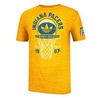 adidas Indiana Pacers Springfield Classic Net Tri-Blend T-Shirt - Gold