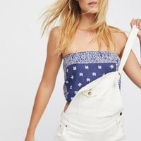 Free People FP Vintage Revival Bandana Top