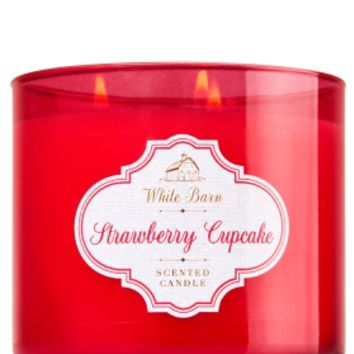 3-Wick Candle Strawberry Cupcake