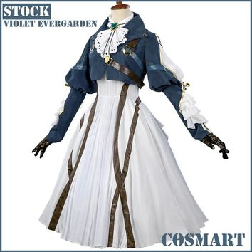 [March.STOCK]Anime Auto Memories Doll figure Violet Evergarden Retro Victoria Uniform Halloween Cosplay Costume 2018 Free Ship