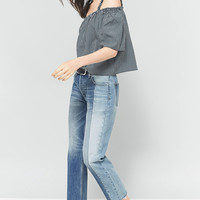 Pins & Needles Gingham Gathered Cold Shoulder Top | Urban Outfitters