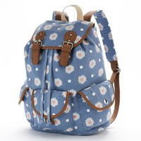 Candie's Madison Cargo Floral Backpack (Blue)