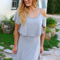 Cold Shoulder Overlay Dress