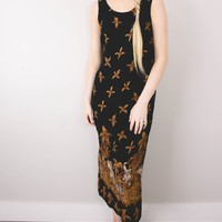 Vintage 90s Floral Jungle Grunge Maxi Dress