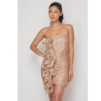 May Strapless Sequin Mini Dress