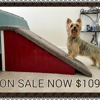 "Dog Ramps, Doxie Ramp. 18"" High Designer Dog Ramps! Wooden Dog Ramps for Beds, Custom Built, Hand Made in the USA!"