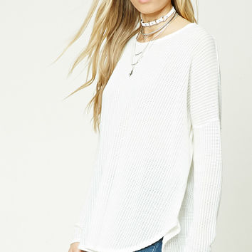 Seed Knit High-Low Top