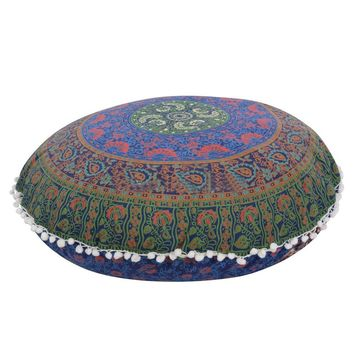 Indian Large Mandala Floor Pillows Round Bohemian Cover velvet pillow cover