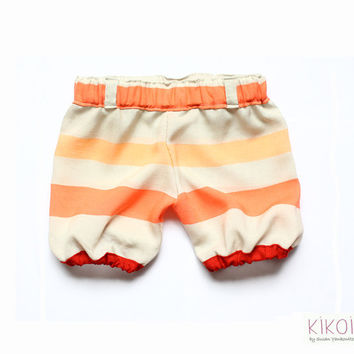 Baby bloomers pantaloons PDF pattern - sailor shorts tutorial - elastic waist - 6mths to 6 years