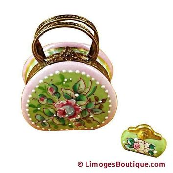 ROUND PURSE W/COIN WALLET VICTORIA LIMOGES BOX