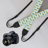 Camera Strap,Pineapple Camera Strap,dSLR / SLR Camera strap,leather strap,Nikon camera strap