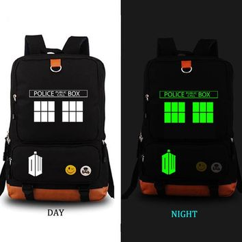 Boys Backpack Bag Doctor Who school bag noctilucous  student school bag Notebook  Leisure Daily  AT_61_4