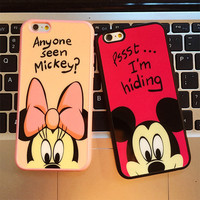 3D Romantic mickey minnie lovers Donald Duck Pig cute cartoon soft rubber silicone protective case cover for ihone 5 5s 6 6 plus