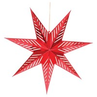 "Spritz Christmas Hanging Star 30"" - Red"