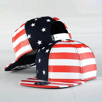 Fashion Street Dance Cool Hip Hop Caps USA Flag Snapback Snap Back Baseball Caps Hats American Flag