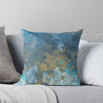 'Dreams of Seashores' Throw Pillow by Christy Leigh