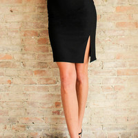 Halsey Pencil Skirt - Black