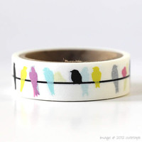 Colorful Bird Washi Tape Mini