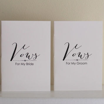 Wedding Vow Books - For My Bride - For My Groom Style