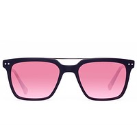 Proof - The Haze 45th Parallel Eco Matte Black Sunglasses / Rose Red Polarized Lenses