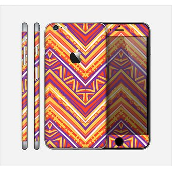 The Red, Yellow and Purple Vibrant Aztec Zigzags Skin for the Apple iPhone 6 Plus