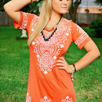 Uniquely Casual and Elegant Dress Orange