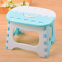 Light Blue Plastic Folding Stool Bright Blue Stools Para Children Step Ottoman Home Furniture For Kid Sitting Picnic Stools